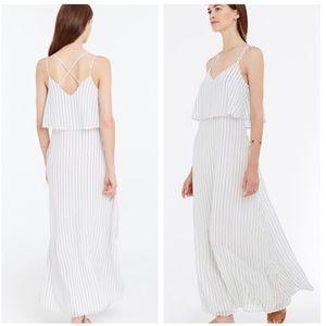 Ann Taylor Striped Tiered  Maxi Dress